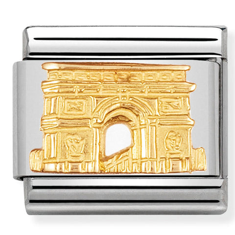 Nomination France Paris Arc De Triomphe Gold Charm
