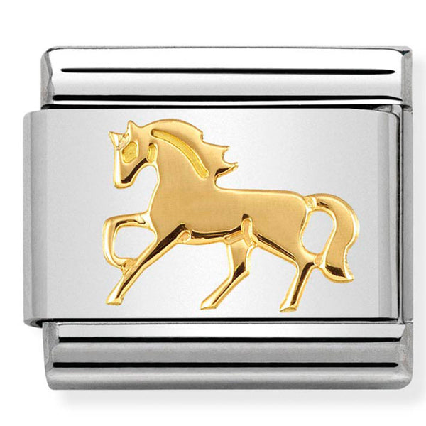Nomination Galloping Horse Gold Charm
