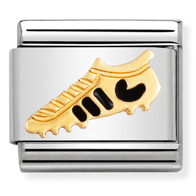 Nomination Black Football Boot Enamel Charm