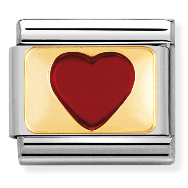 Nomination Red Heart Gold Charm