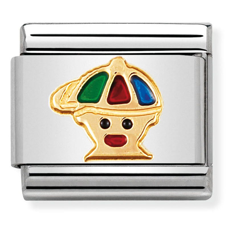 Nomination Boy Enamel Gold Charm