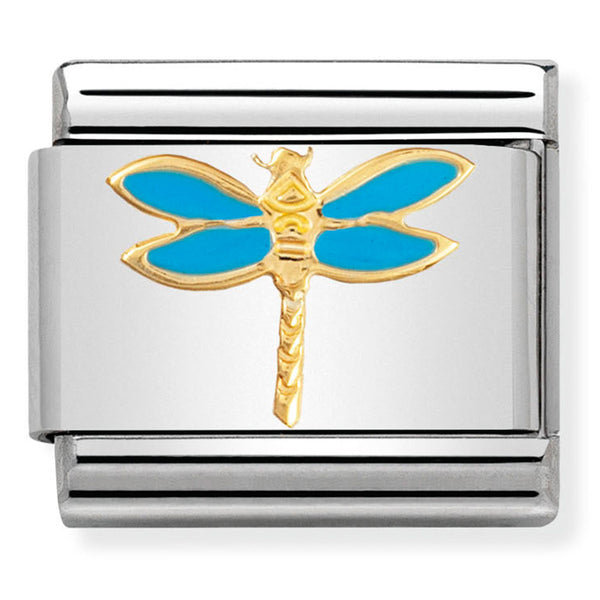Nomination Dragonfly Enamel Gold Charm