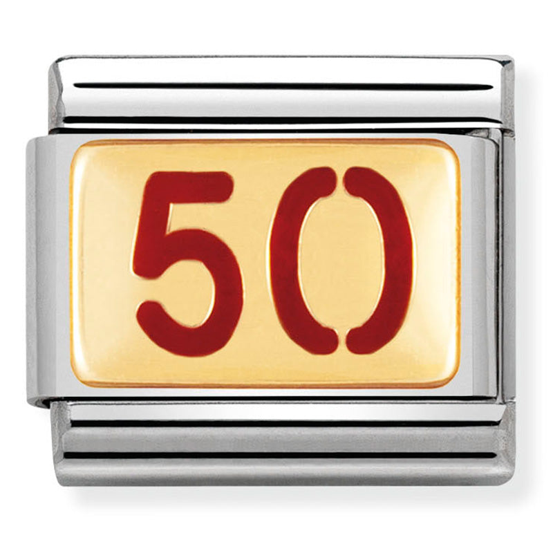 Nomination 50 Red Enamel Gold Charm