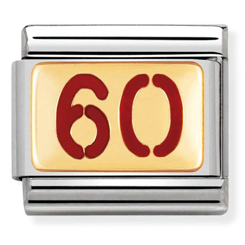 Nomination 60 Red Enamel Gold Charm