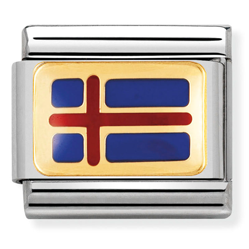 Nomination Iceland Flag Charm