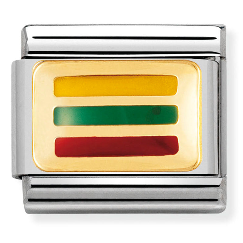Nomination 030234/39 Lithuania Flag Charm