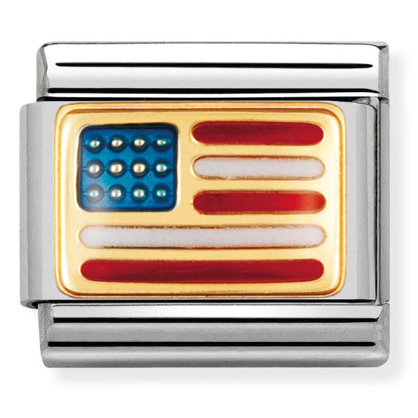 Nomination United States of America Gold Charm