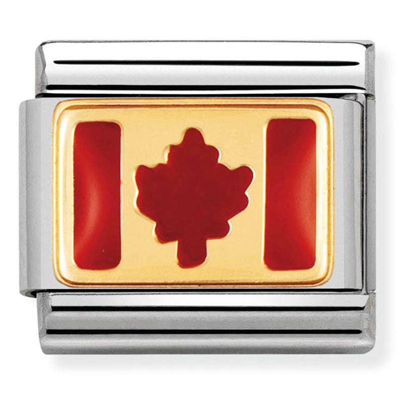 Nomination Canada Gold Charm