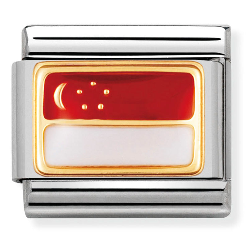 Nomination Singapore Flag Charm