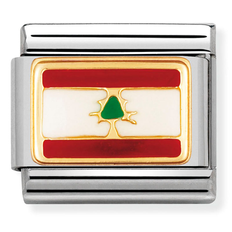 Nomination 030236/13 Lebanon Flag Charm