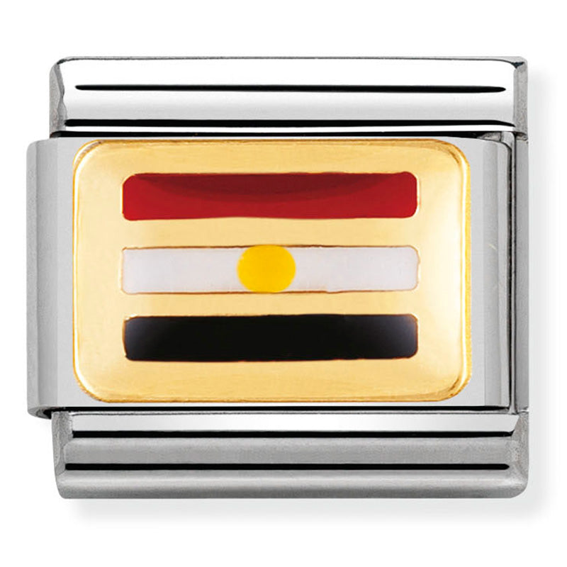 Nomination Egypt Flag Gold Charm