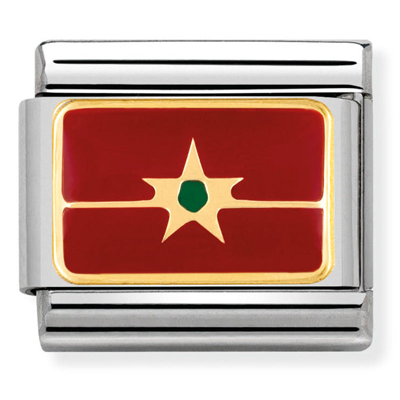 Nomination Morocco Flag Charm
