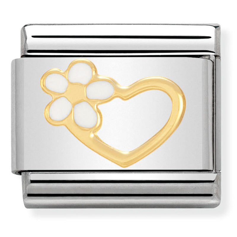 Nomination Daisy Heart Gold Charm
