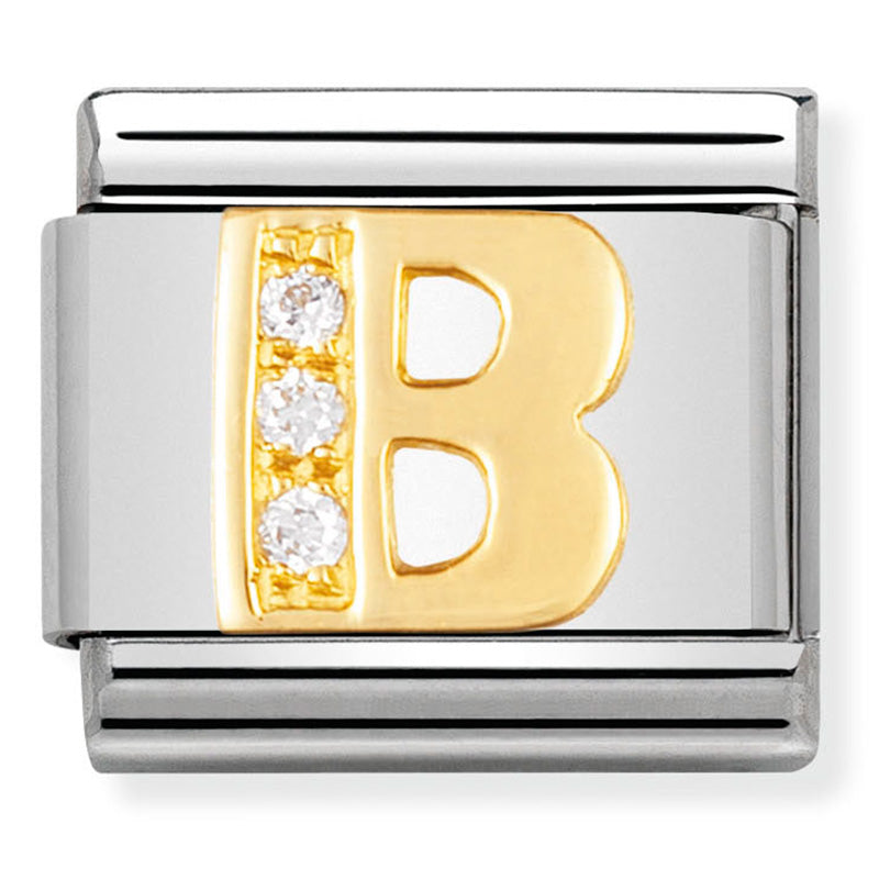 Nomination 030301/02 Letter B Gold Charm