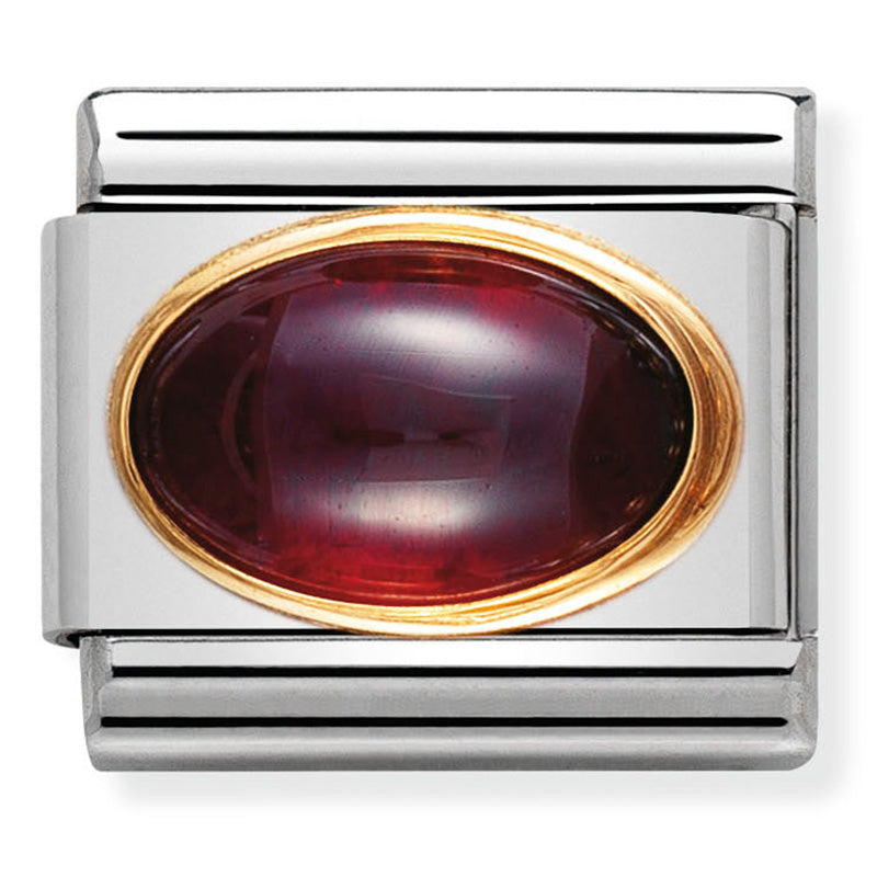 Nomination Garnet Stone Gold Charm