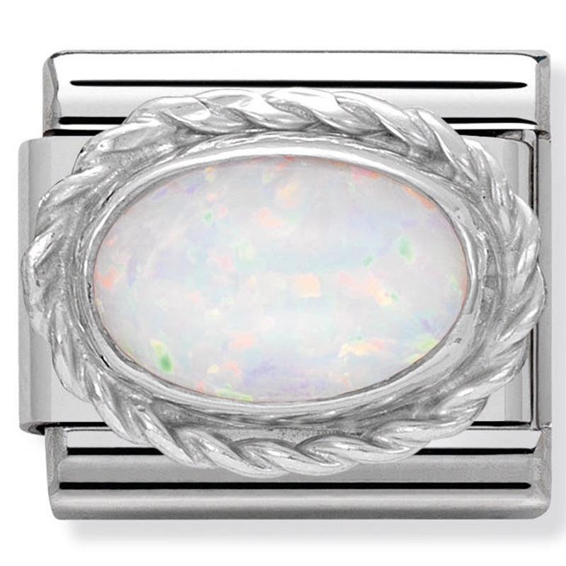 Nomination October Opal Birthday Stone Birth Stone Charm Link