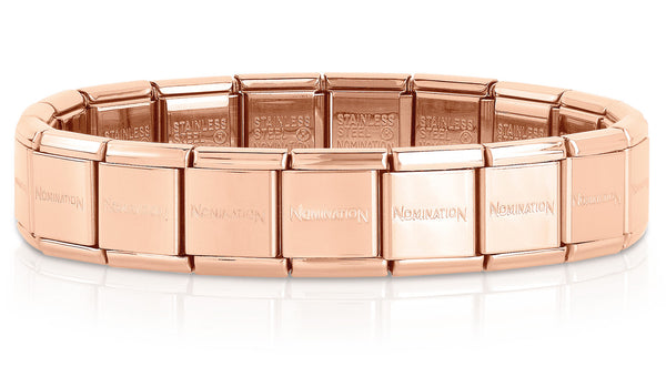 Nomination Starter Big Bracelet Rose Gold Stainless Steel