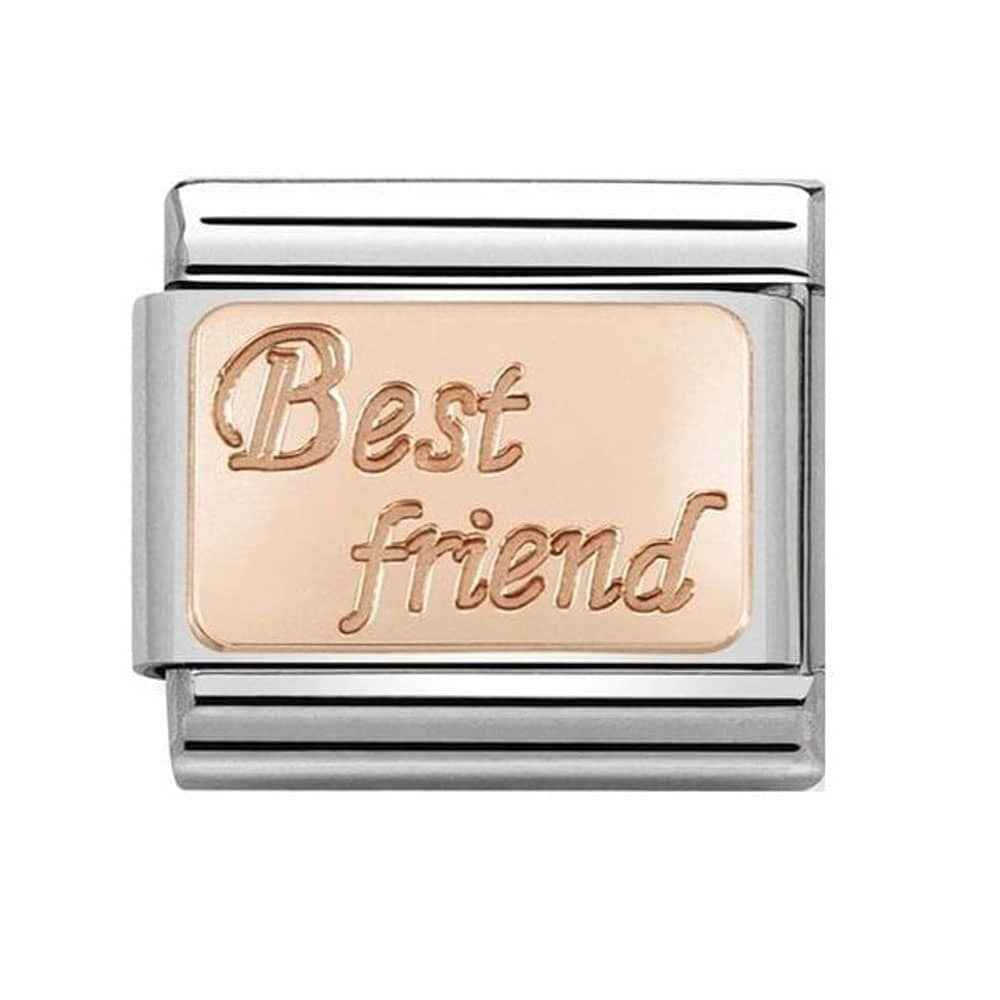 Best Friend Rosegold Charm