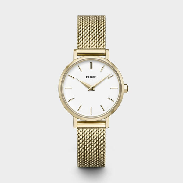 La Boheme Petite Mesh Gold/White Watch