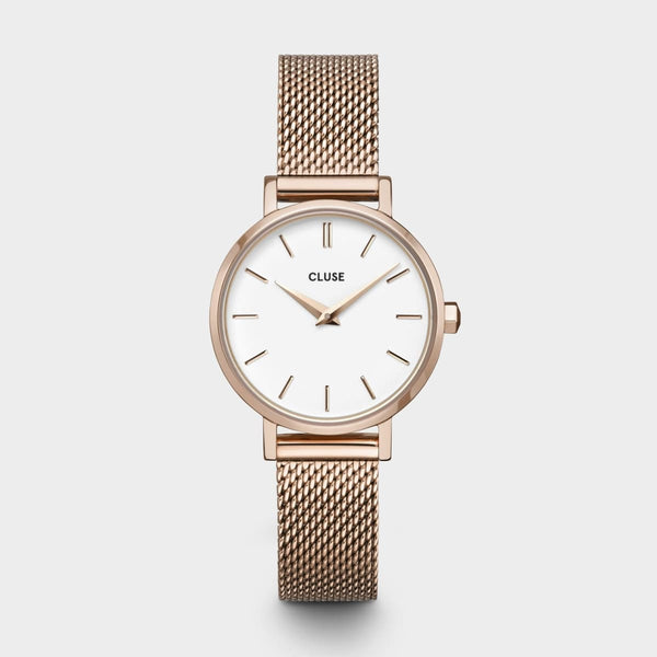 La Boheme Petite Mesh Rose Gold/White Watch