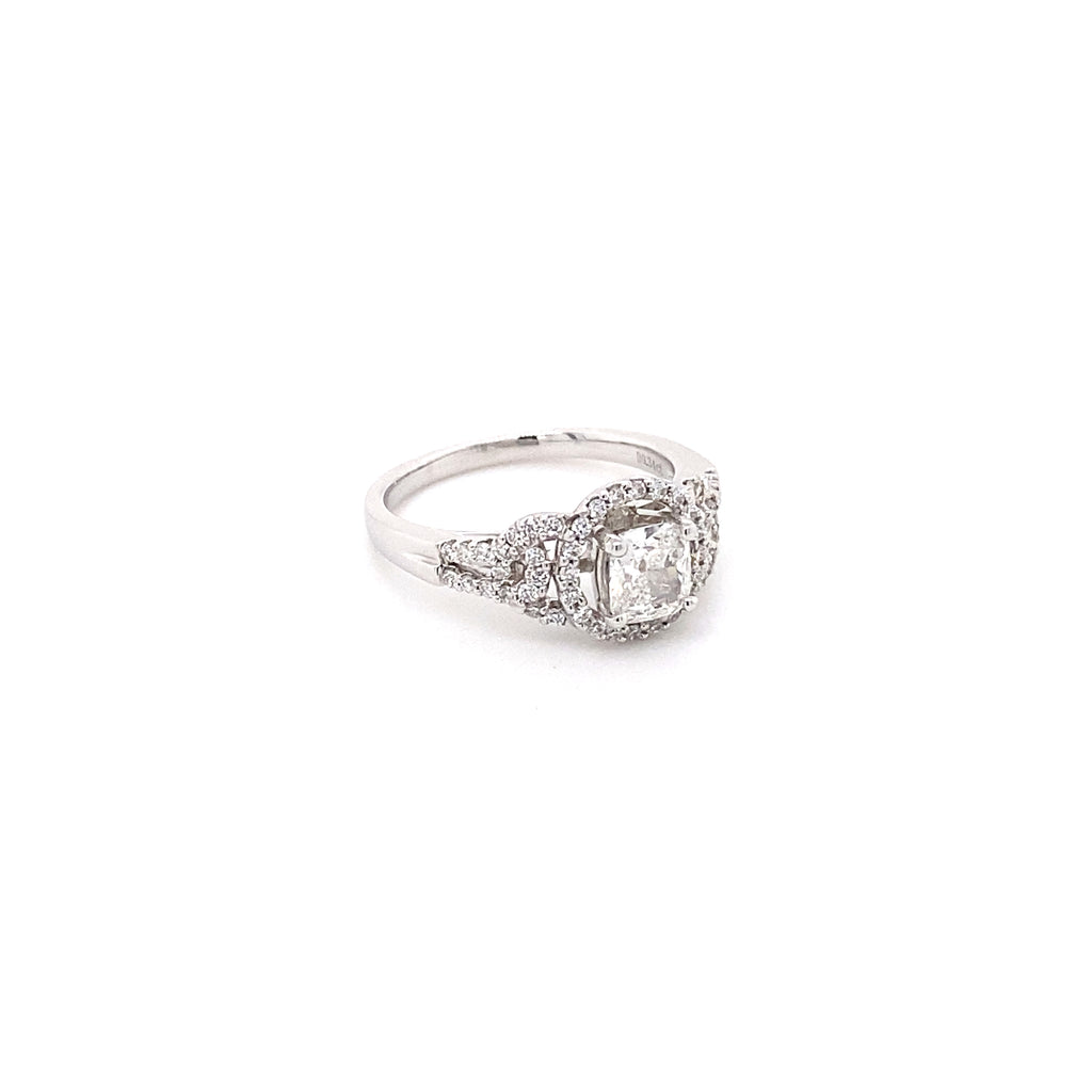 18ct White Gold Diamond Ring (0.78ct)