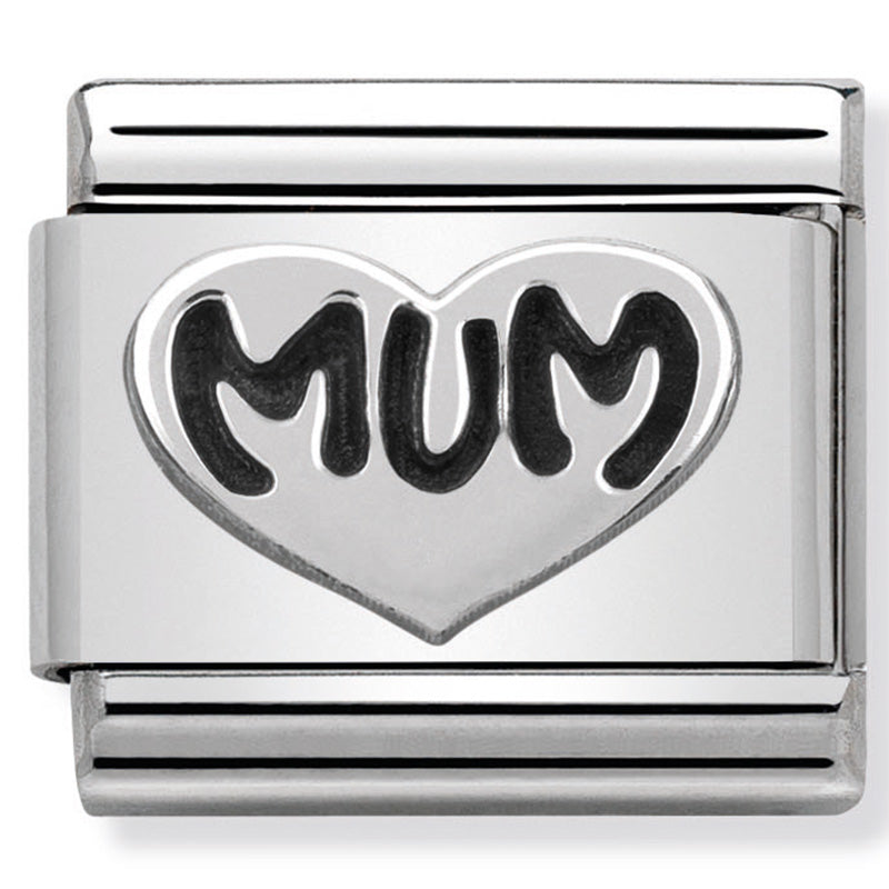Nomination Mum Heart Silver Charm