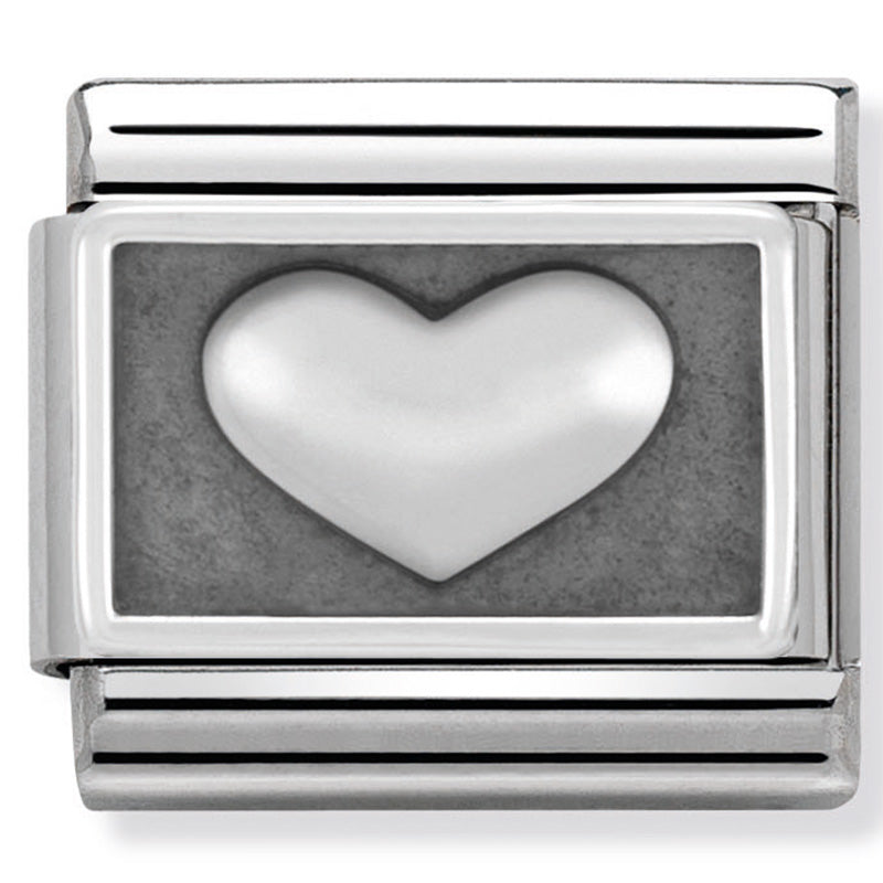 Nomination Heart Silver Charm