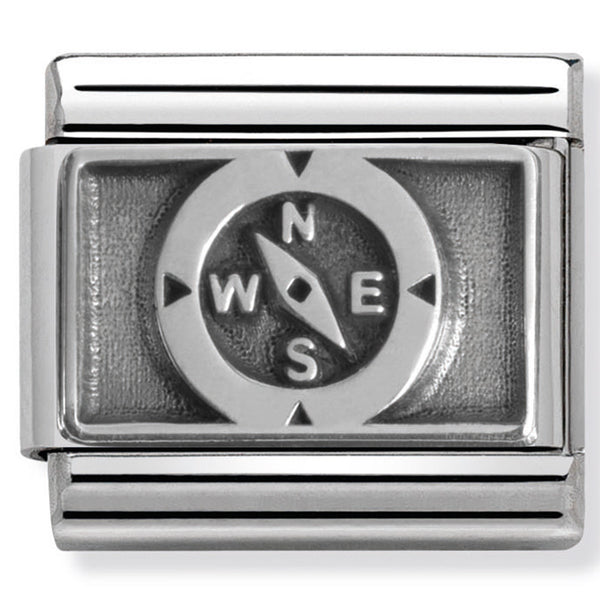 Nomination 330102/10 Compass Silver Charm