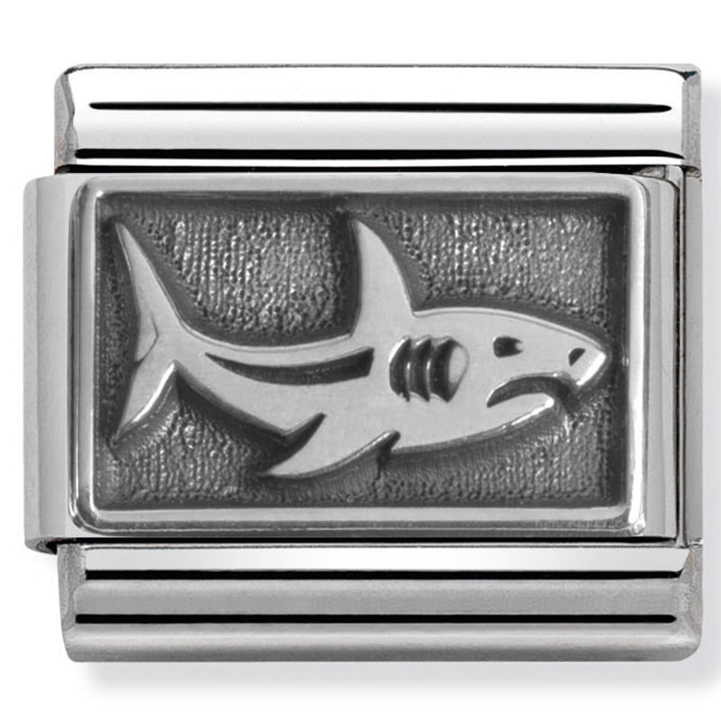 Nomination Shark Silver Charm