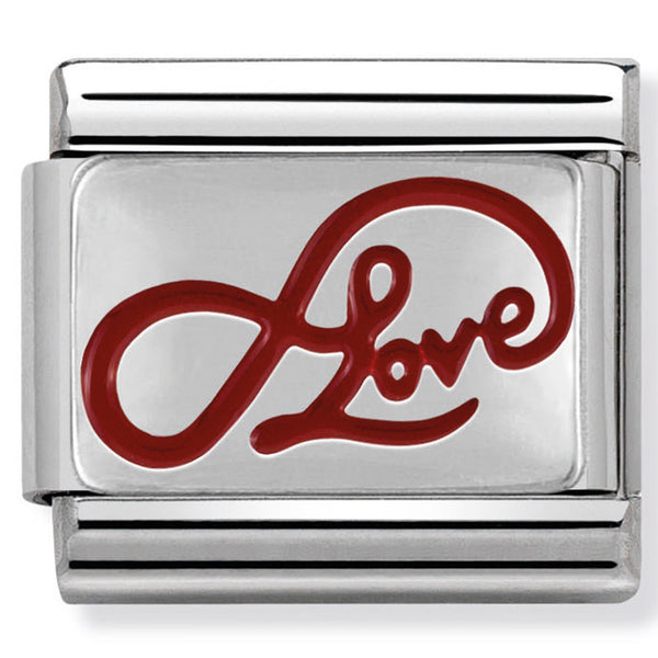 Infinity Love Silver Charm