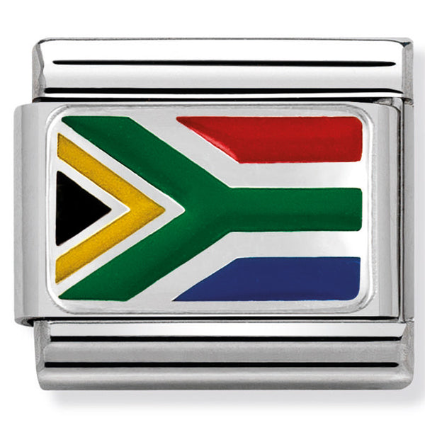 Nomination South Africa Flag Silver Charm