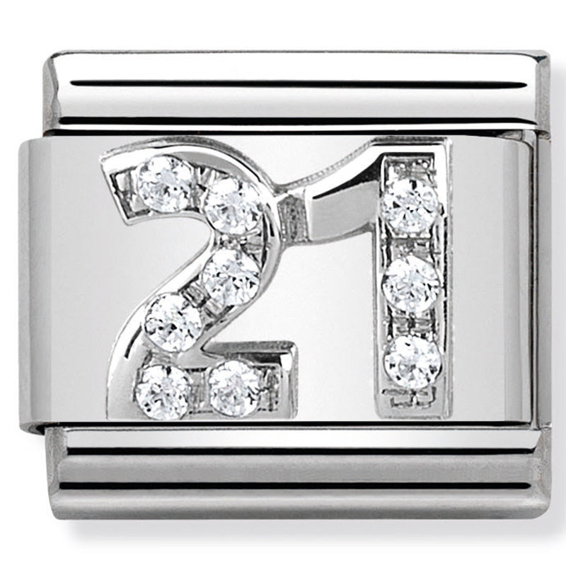 Nomination Number 21st CZ Silver Charm