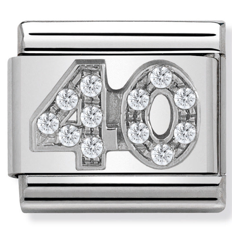 Nomination 40 CZ Silver Charm