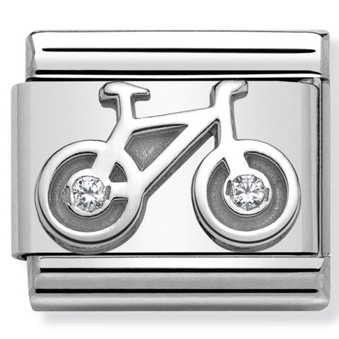 Bicycle Silver Charm