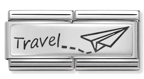 Nomination Travel Plate Silver Charm
