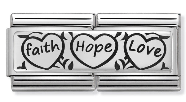 Faith Hope Love Silver Charm