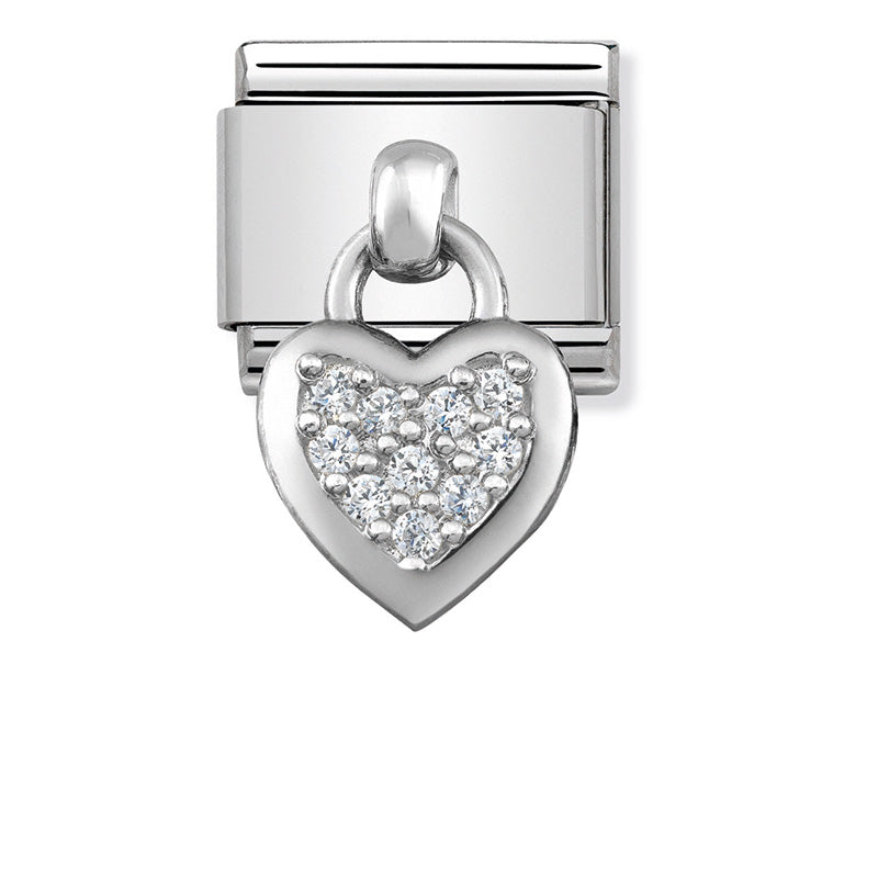 Nomination 331800/01 Silver Heart Dangle Charm