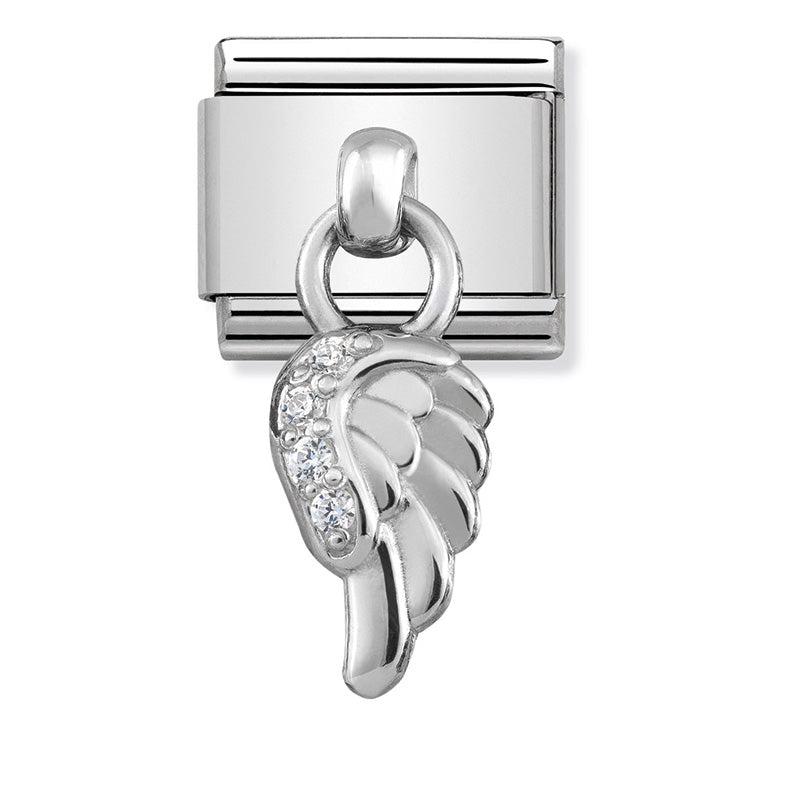 Nomination 331800/06 Silver Wing Charm