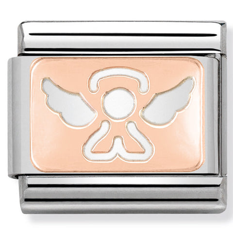 Nomination Angel Plate Rose Gold Charm