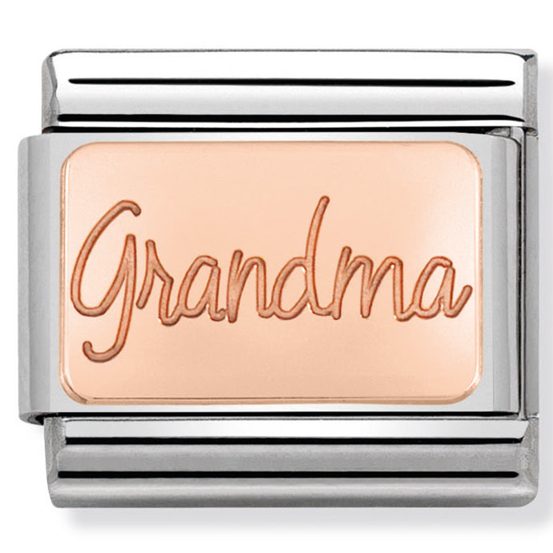Nomination Grandma Rose Gold Charm