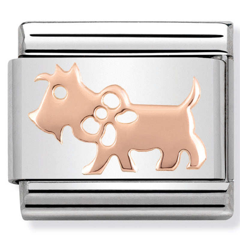 Nomination Dog Rosegold Charm