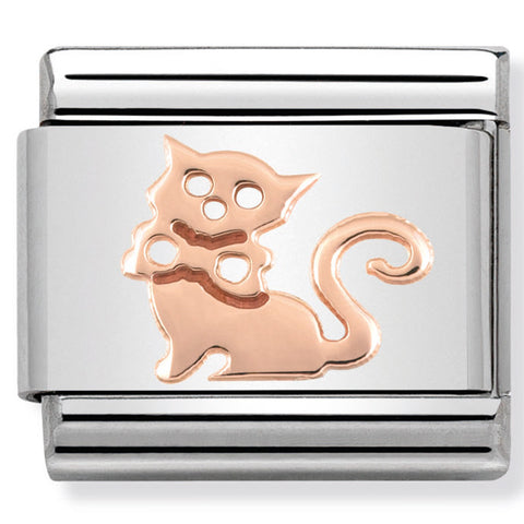 Nomination Cat Rosegold Charm