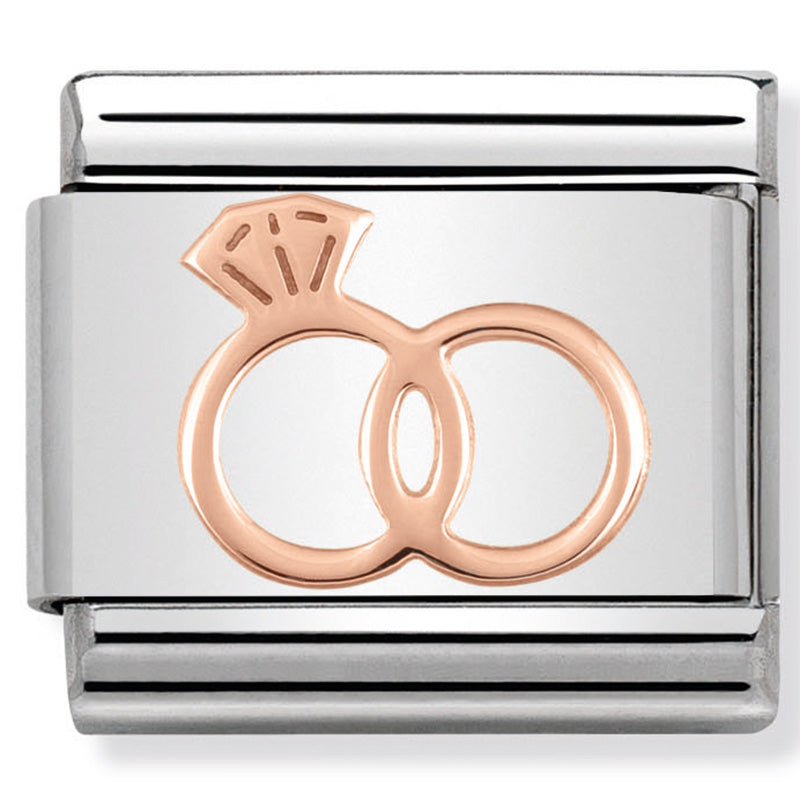 Nomination Wedding Rings Rose Gold Charm