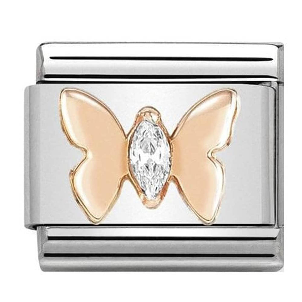 Butterfly Rosegold with Zirconia Charm