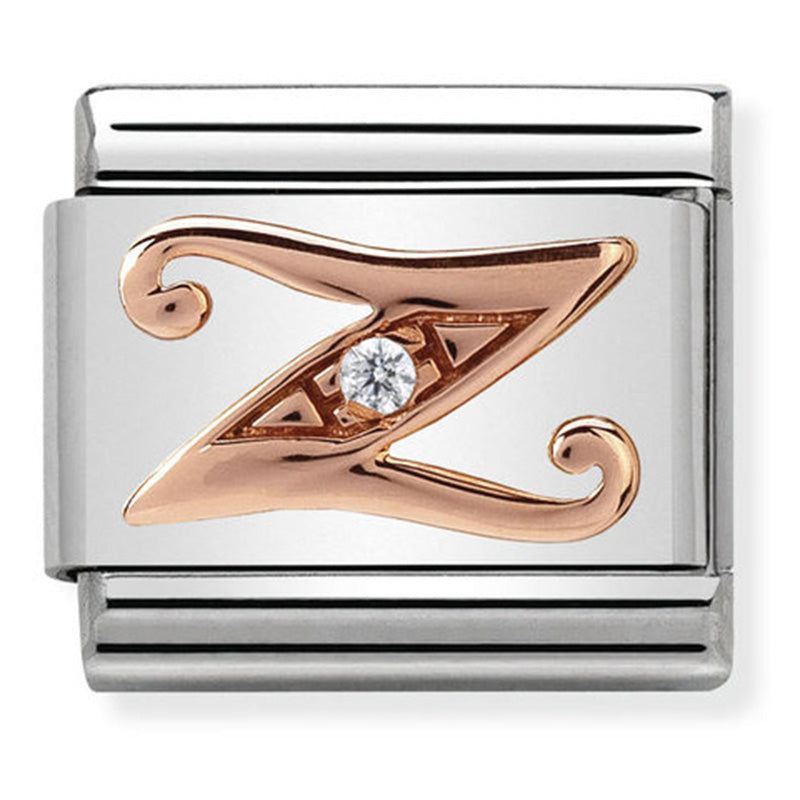 Nomination Letter Z Rose Gold Charm