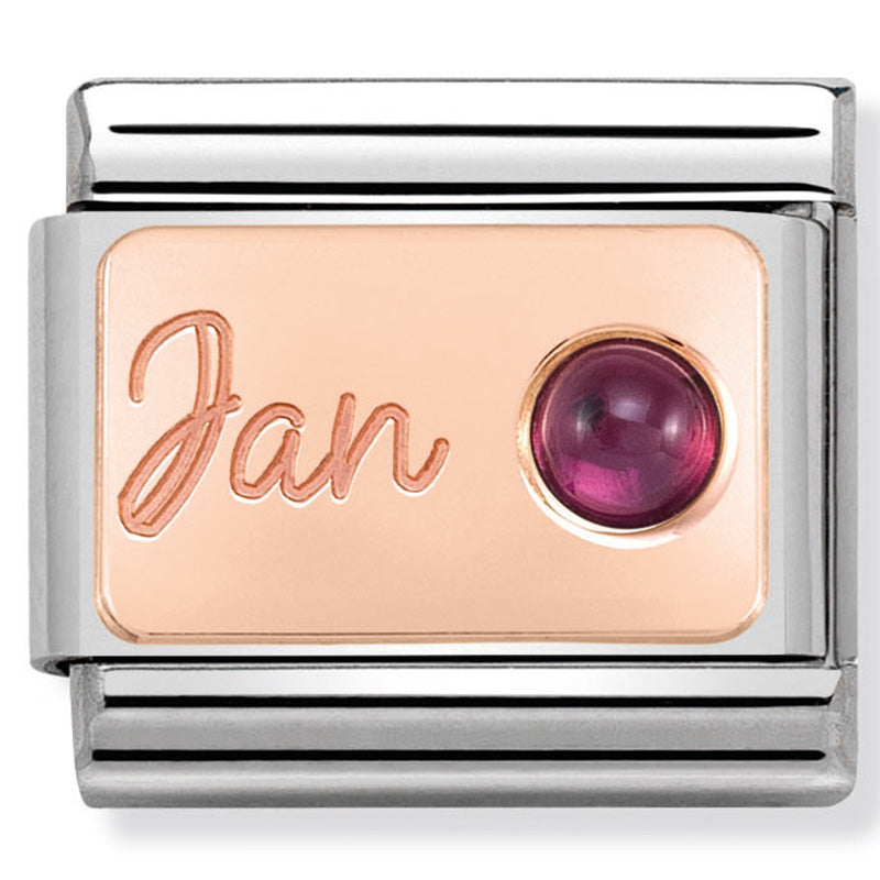 Nomination January Birthstone Rosegold Charm
