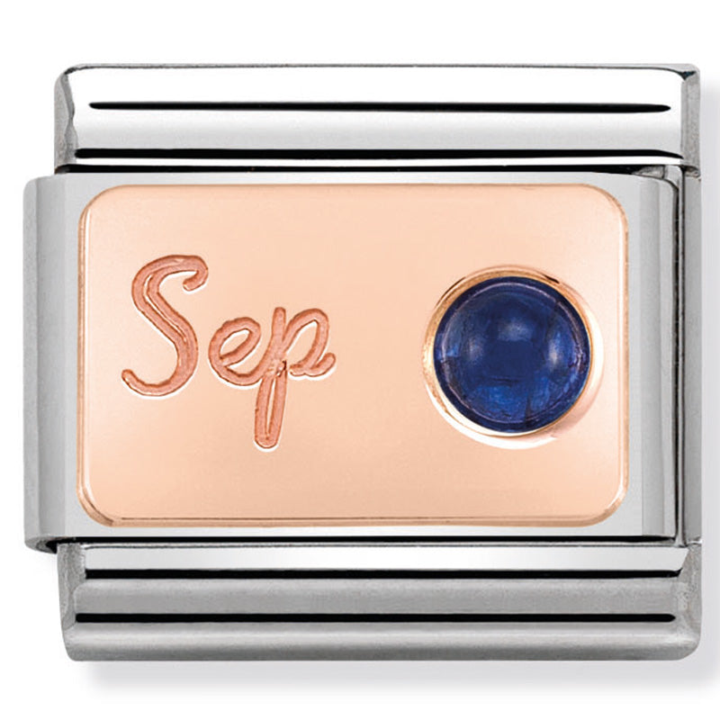 Nomination September (Sapphire) Birthstone Rose Gold Charm