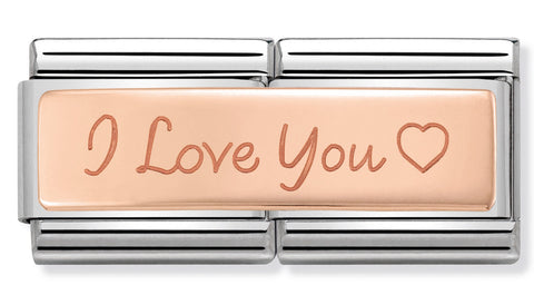 Nomination I Love You Rose Gold Charm