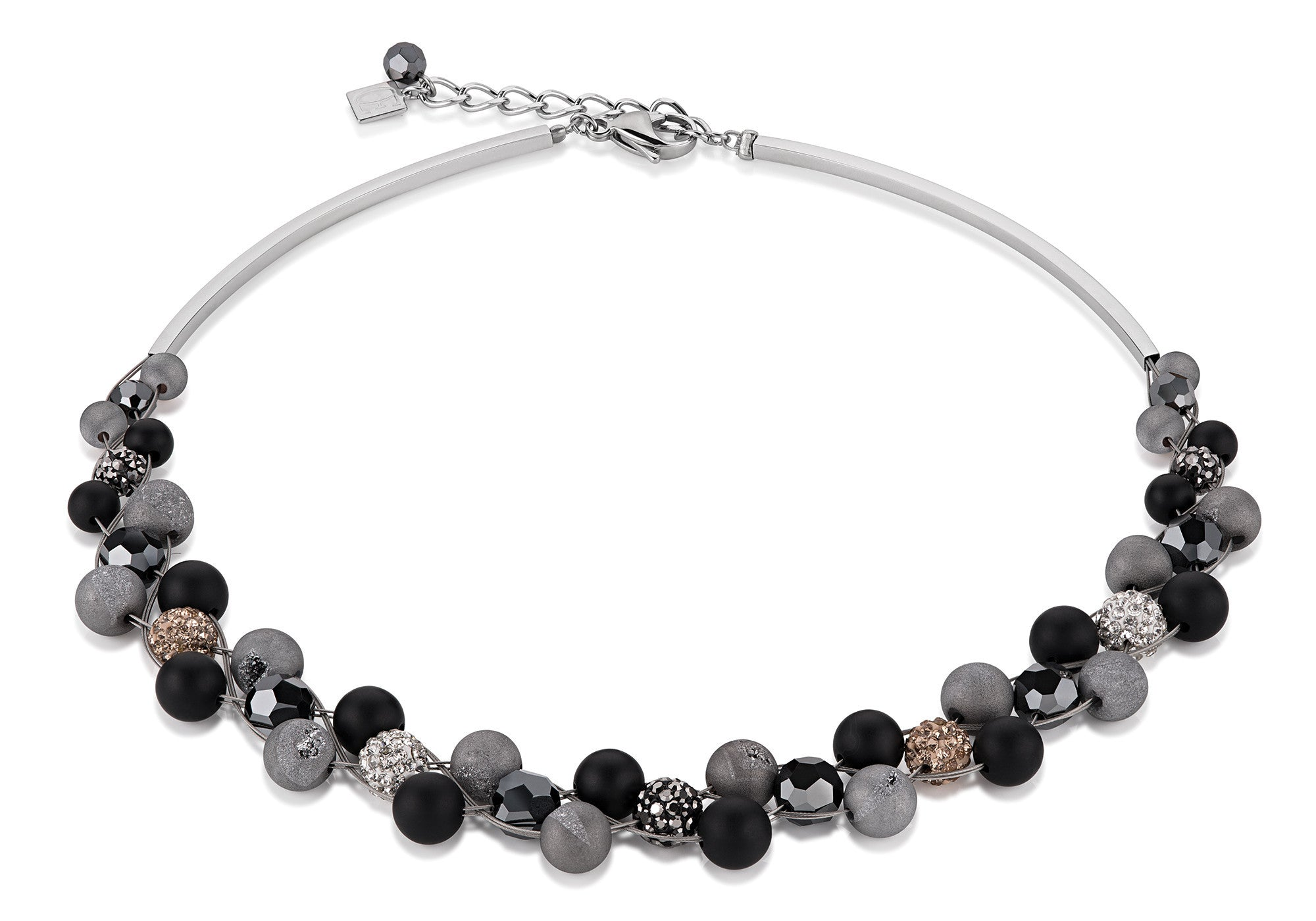 coeur de lion Onyx Crystal and Agate Black Set