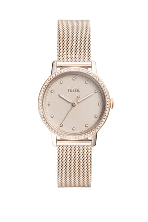 Neely Sale Three-Hand Pastel Pink Stainless Steel Watch